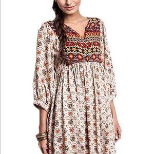Umgee Boho Babydoll Dress/1XL